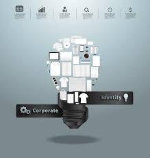 vector corporate identity templates with creative light bulb idea