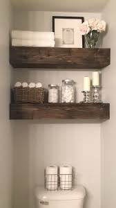 Floating Wood Shelves Diy by Best 25 Shelves Above Toilet Ideas On Pinterest Half Bathroom