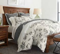 Linen Bed Covers - pippa floral print organic duvet cover u0026 sham pottery barn