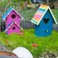 diy painted fairy houses the magic onions