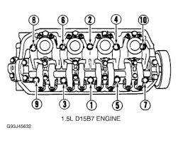 1993 honda civic head bolt torque engine mechanical problem 1993