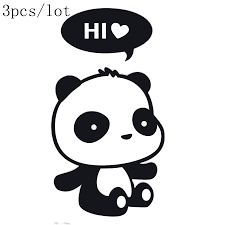 compare prices on funny wall stickers online shopping buy low wall sticker diy poster panda stickers wall stickers funny wall stickers for kids rooms home decor