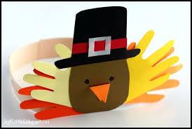 Pilgrim Hats Out Of Construction Paper - thanksgiving turkey hat craft template handmade craft design