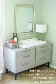 Cheap White Changing Table Outdated Dresser To Modern Changing Table A Real Dresser Top