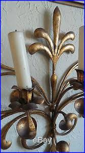 Gold Wall Sconce Candle Holder Antique Original Gilded Gold U0026 Metal Wall Sconce Candle Holders
