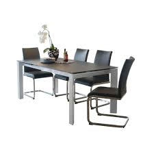 milos small extending dining table u0026 4 dining chairs grey dining