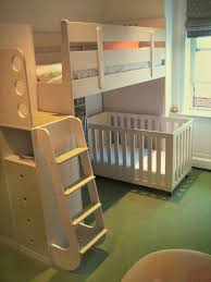 Loft Bed With Crib Underneath Crib Bunk Bed White Bed