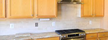Brown Subway Travertine Backsplash Brown Cabinet by Please Help With Backsplash Kitchens Forum Gardenweb Kitchen