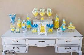 blue baby shower lemon and blue baby shower by your unique party paperblog