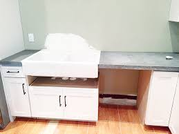 kitchen base cabinets for farmhouse sink retrofitting a cabinet for a farm house sink bower power