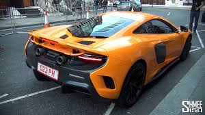 orange mclaren price mclaren 675lt start revs driving in london youtube