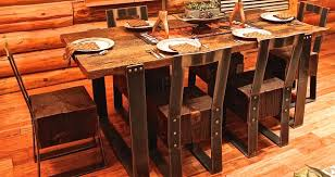 rustic metal and wood dining table metal and reclaimed wood dining table metal base round glass top