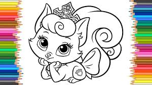 disney palace pets kitty beauty coloring coloring videos