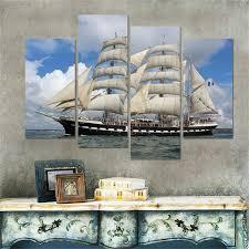 aliexpress com buy unframed sailing boat canvas painting art