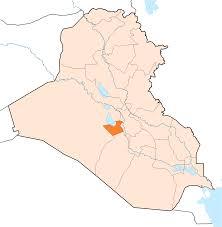 iraq map vector karbala iraq map
