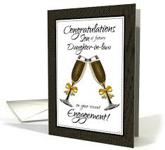 congratulations son and future daughter in law on your engagement card