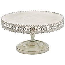deco 79 metal cake stand home decor 16 by 9 inch