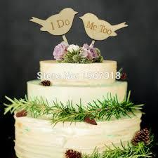 wedding cake decorating supplies rustic wooden bird design wedding cake topper wedding cake