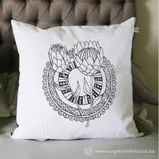 scatter cushion cover protea dreams 600 x 600 mm black gift