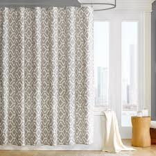 Curtain Hanging Ideas Rectangle Brushed Nickel Curtain Rod Fabric Shower Curtain No
