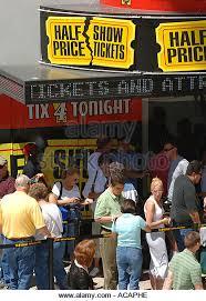half price restaurant half price show tickets stock photos half price show tickets