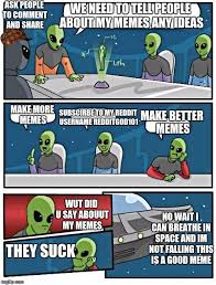 Make A Comic Meme - alien meeting suggestion meme imgflip