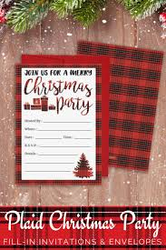 Invitation Card For Christmas 31 Best A Plaid Christmas Images On Pinterest Christmas Ideas