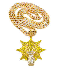 necklace chains hip hop images Chief keef inspired glo man gang chain hip hop pendant gold JPG