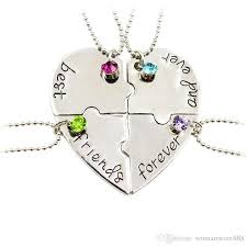best friends puzzle necklace images Wholesale hand stamped best friends forever heart puzzle piece jpg