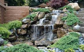 waterfall backyard lscaping backyards garden diy kits