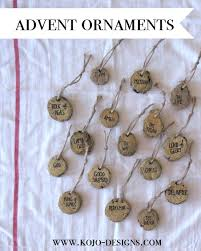 advent ornaments