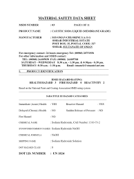 caustic soda msds sodium hydroxide waste management