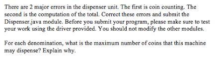 dispense java solved we need to change the dispenser java program so t
