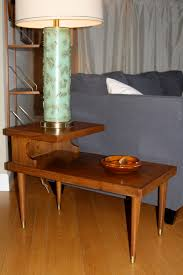mid century end table two tier midcentury end tables toddshouse