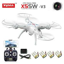 Radio Control Helicopters With Camera White Syma X5sw V3 Wifi Fpv 2 4g Rc Quadcopter Drone With Hd