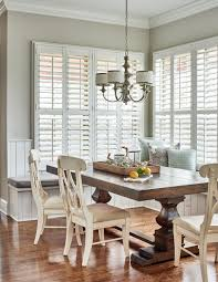 Eat In Kitchen Ideas Eat In Kitchen With Farmhouse Table And Banquette Seating