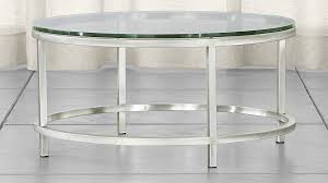 round glass side table era round glass coffee table reviews crate and barrel