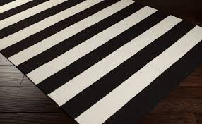 Black And White Floor Rug Black And White Striped Area Rug