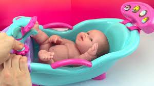 new baby dolls bathtub toy w sounds u0026 shower how to bath a baby