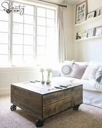 Living Room Table With Storage Diy Storage Coffee Table U0026 Youtube Video Tutorial Shanty 2 Chic