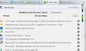 all tabs android browser all tabs helper improves firefox s all tabs menu ghacks tech news