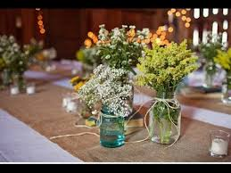 jar center pieces wildflower jar centerpieces