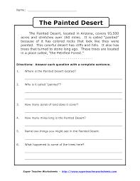 Adverb Worksheets 2nd Grade Comprehension Worksheet Grade 3 Boxfirepress