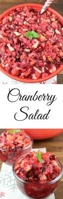 cranberry salad recipe dressings thanksgiving and salad