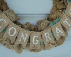 Congratulations Engagement Banner Congrats Bunting Etsy