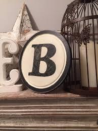 8 round letter b sign monogram initial wall art home decor