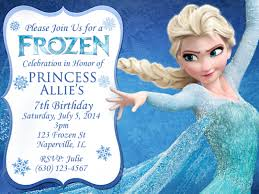 personalized frozen birthday invitations marialonghi com