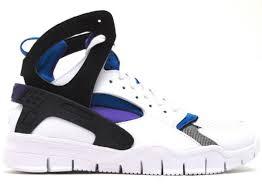 nike huarache free basketball white royal blue purple new