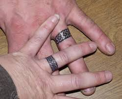 wedding band tattoos designs for your ring finger aww wedding