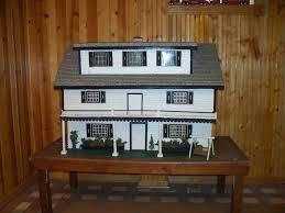 large vintage handmade dollhouse w greenhouse poolhouse garage